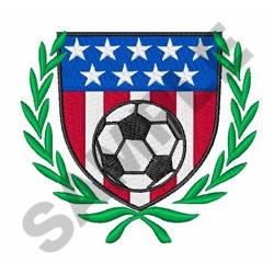 American Soccer Crest embroidery design