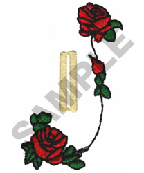 ROSE BUTTON HOLE embroidery design