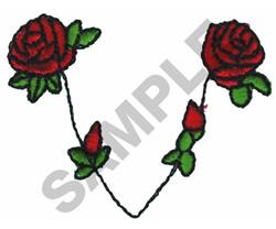 ROSE COLLAR embroidery design