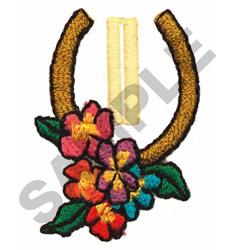 HORSESHOE BUTTON HOLE embroidery design