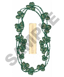 SHAMROCK BUTTON HOLE embroidery design