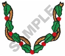 HOLLY COLLAR embroidery design