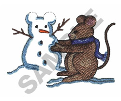SNOWMOUSE embroidery design
