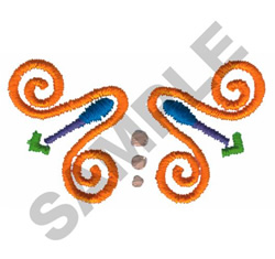ABSTRACT COLLAR embroidery design