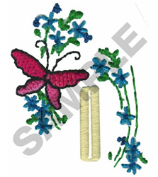BUTTERFLY FLORAL BUTTON HOLE embroidery design
