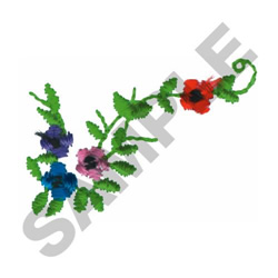 FLORAL COLLAR embroidery design
