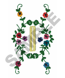 FLORAL BUTTON HOLE embroidery design