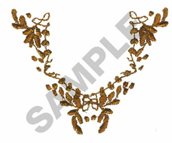 FLORAL CREST COLLAR embroidery design