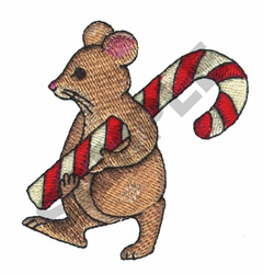 CANDYCANE AND MOUSE embroidery design
