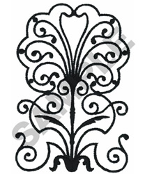 WROUGHT IRON DESIGN embroidery design