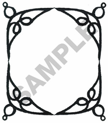 WROUGHT IRON FRAMEWORK embroidery design