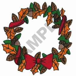 FALL WREATH embroidery design