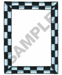 CHECKED BORDER embroidery design