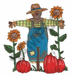 SCARECROW IN THE SUNFLOWERS embroidery design
