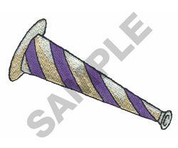 NEW YEARS HORN embroidery design