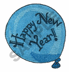 NEW YEAR BALLOON embroidery design
