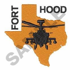Fort Hood Base embroidery design