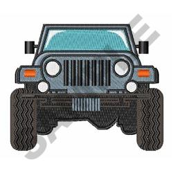 Jeep Front embroidery design
