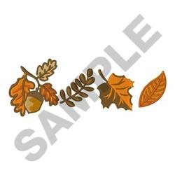Fall Leaves Border embroidery design
