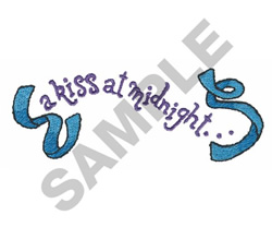A KISS AT MIDNIGHT embroidery design