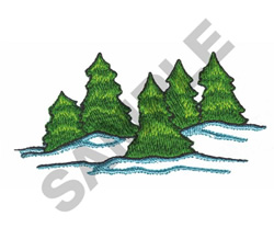 CHRISTMS TREES embroidery design