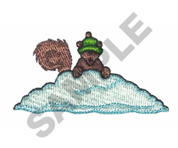 SQUIRREL IN SNOW embroidery design