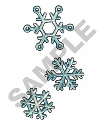 SNOW FLAKES embroidery design