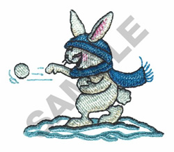 SNOWBALL BUNNY embroidery design