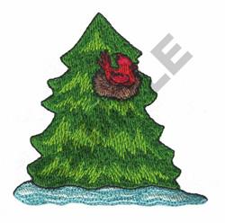 CARDINAL NEST embroidery design