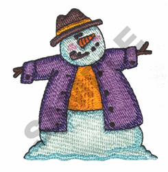 SNOWMAN WITH PIPE embroidery design