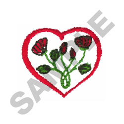 HEART EMBLEM embroidery design