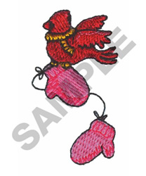 CARDINAL & MITTENS embroidery design