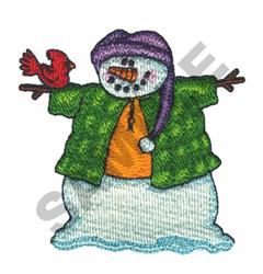 SNOWMAN & CARDINAL embroidery design