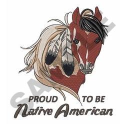 Proud Native American embroidery design