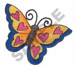 BUTTERFLY HEARTS embroidery design
