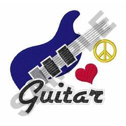 Peace Love Guitar embroidery design