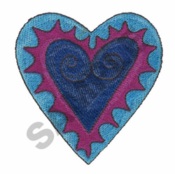 HEART IN HEARTS embroidery design