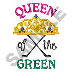 Queen Of The Green embroidery design