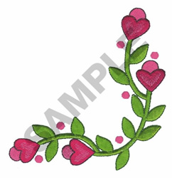FLORAL HEART BORDER embroidery design