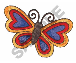 BUTTERFLY OF HEARTS embroidery design