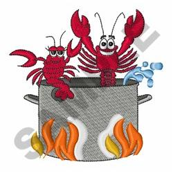 Crawfish Boil Embroidery Design