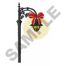 Holiday Streetlamp embroidery design