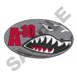 A Ten Warthog Oval embroidery design