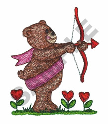 CUPID BEAR embroidery design
