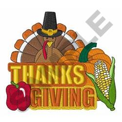 Thanksgiving Collage embroidery design