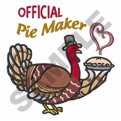 Official Pie Maker embroidery design