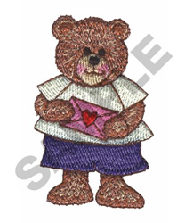 BEAR WITH VALENTINE embroidery design