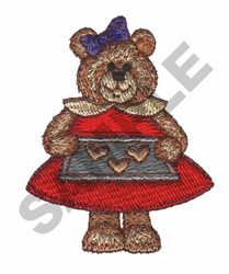 BEAR & HEART COOKIES embroidery design