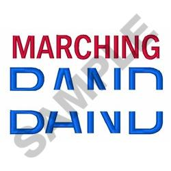 Marching Band Name Drop embroidery design