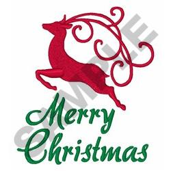 Merry Christmas Reindeer embroidery design